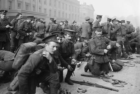 Irish Guards Leaving Barracks