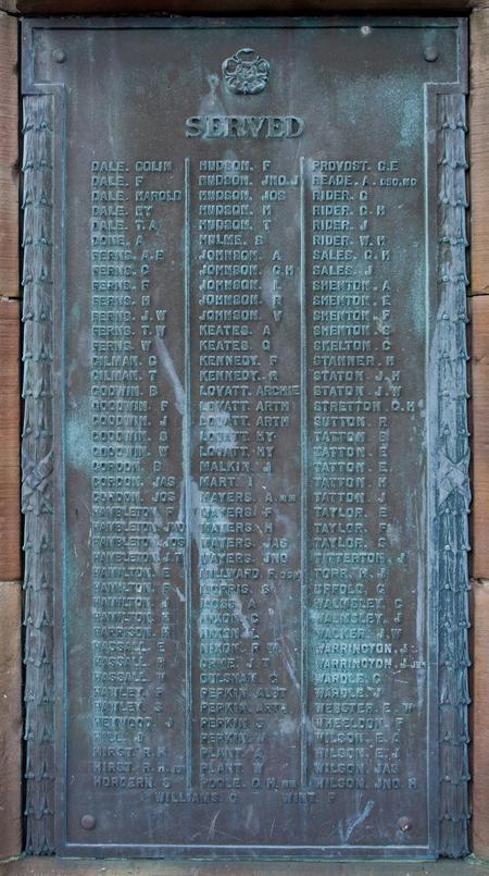 Ball Haye Green War Memorial, Leek.