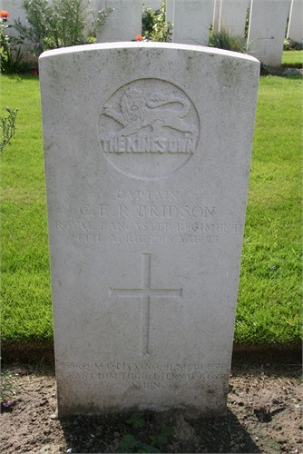 Captain CER Bridson's grave