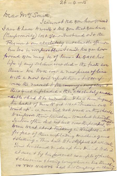 Lt Col Langs original letter p1