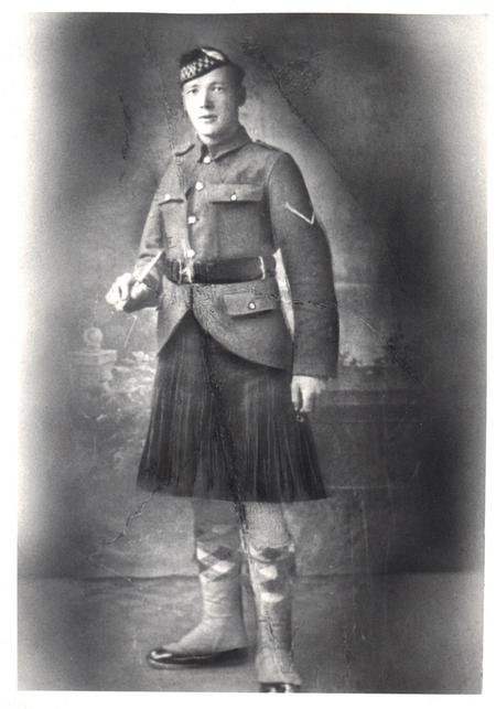 William Tennant, Argyll and Sutherland Highlanders