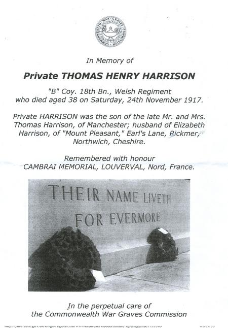In Memory of Thomas Henry Harrison