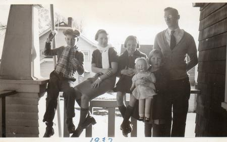 My grandfather and his family, 1937