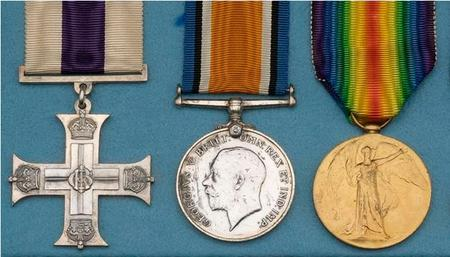 Medals - Examples of medals postumously warded