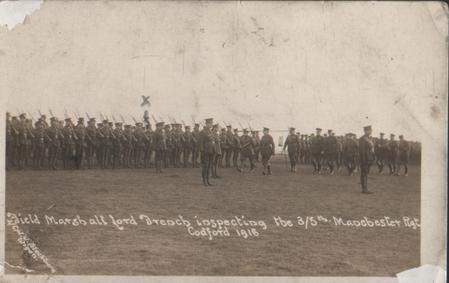 3/5th Battalion Manchester Regt. Codford 1916