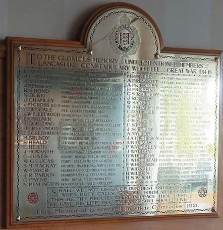 Lancashire Constabulary war memorial