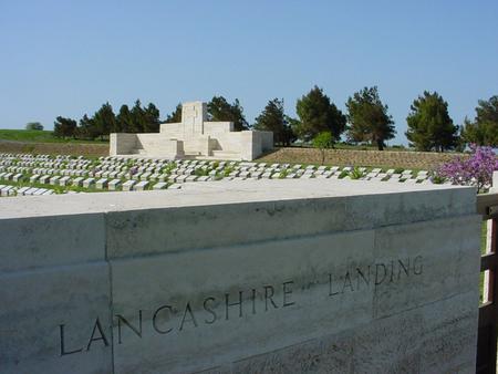 Lancashire Landings Cemetery overlooking W beach
