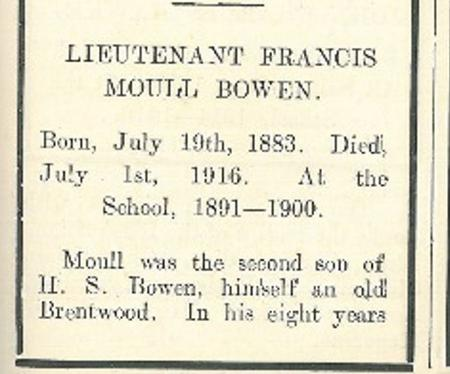 Profile picture for Francis Moull Storer Bowen