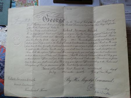 Appointment certificate of Robert Norman Smith