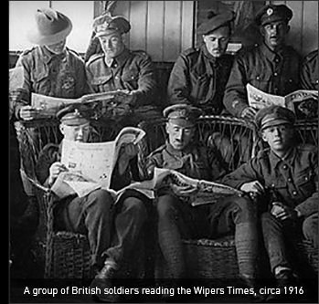 Soldiers Reading the Wipers Times