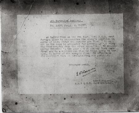 16071 Marshall Smith Military Medal Citation