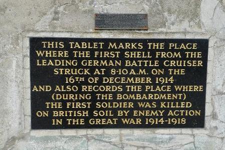 Memorial Plaque at Heugh Battery