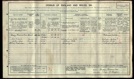 1911 Census: Alix Liddle