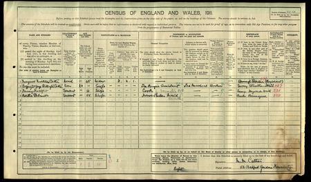 1911 Census - Cather