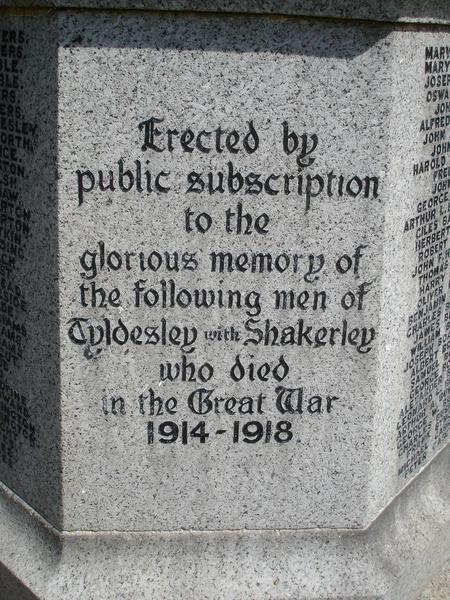 Tyldesley War Memorial