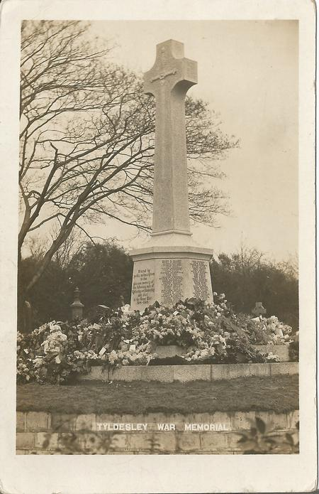 Tyldesley War Memorial Postcard