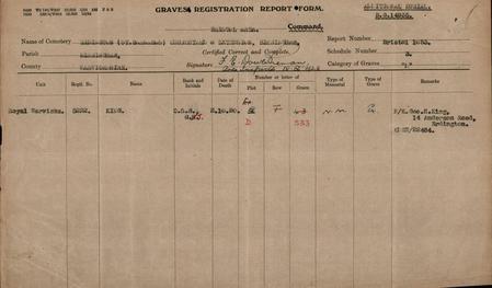 Graves Registration Report Form