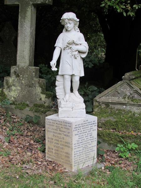 Memorial to J H M Hardyman in Bathwick Churchyard