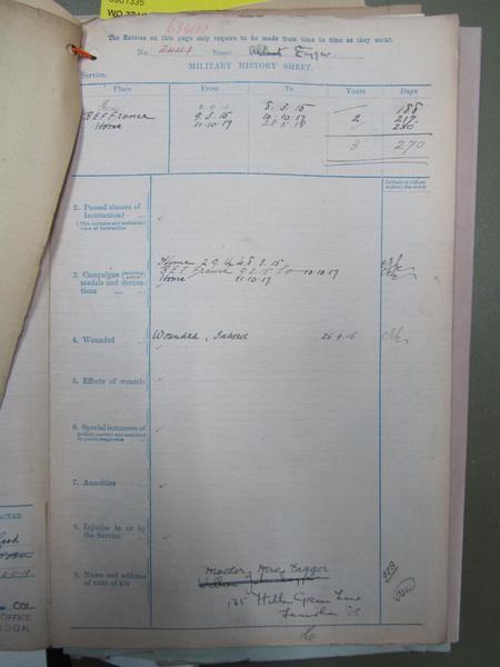 Service record 3