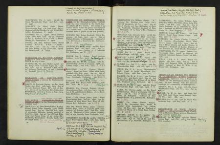CWGC Grave Registration Book