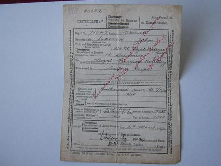 Discharge papers