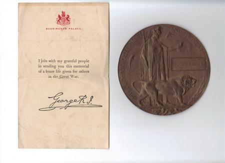 Grandfather's memorial plaque