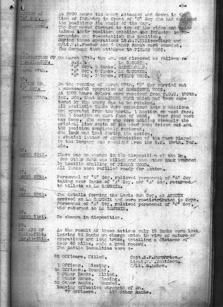 Unit History March 1918