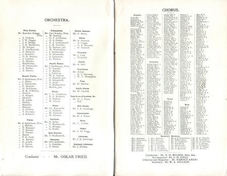 Halle Orchestra 1911 - 1912
