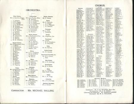 Halle Orchestra 1912 - 1913