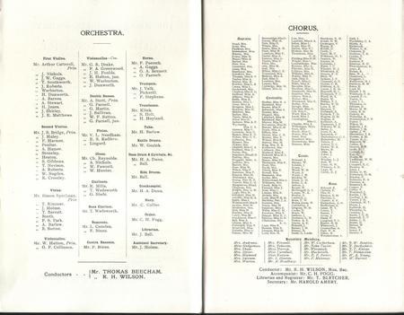 Halle Orchestra 1915 - 1916