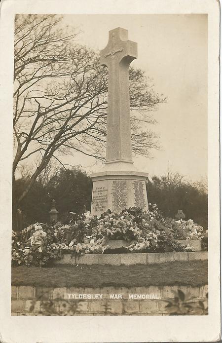 Tyldesley War Memorial Postcard