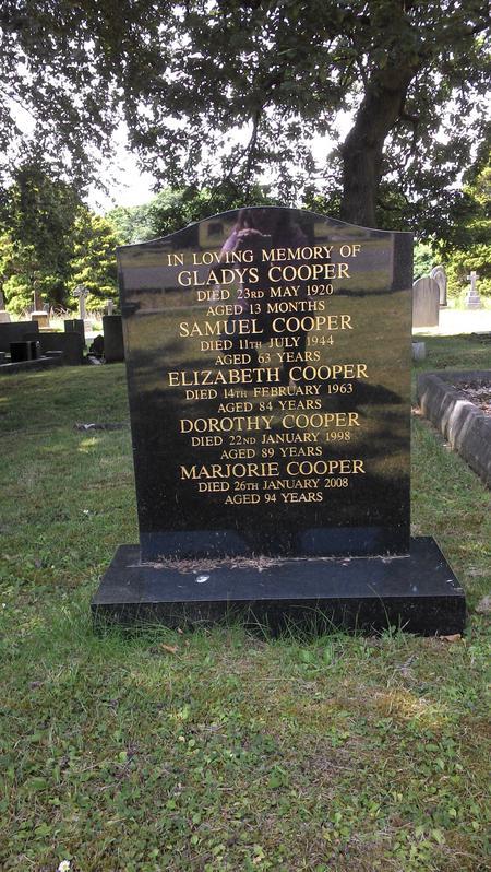Samuel Cooper's Headstone