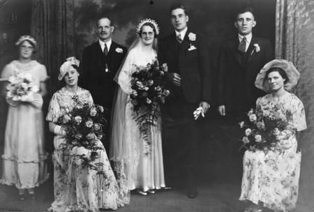 Thomas Arthur Smallwood at a wedding