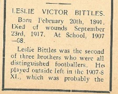 Profile picture for Leslie Victor Bittles