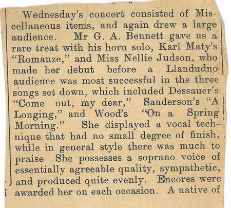 Llandudno Pier Orchestra newspaper article