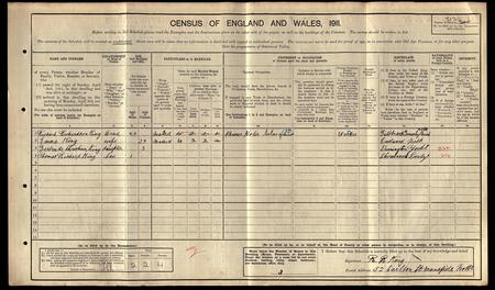 1911 Census King family