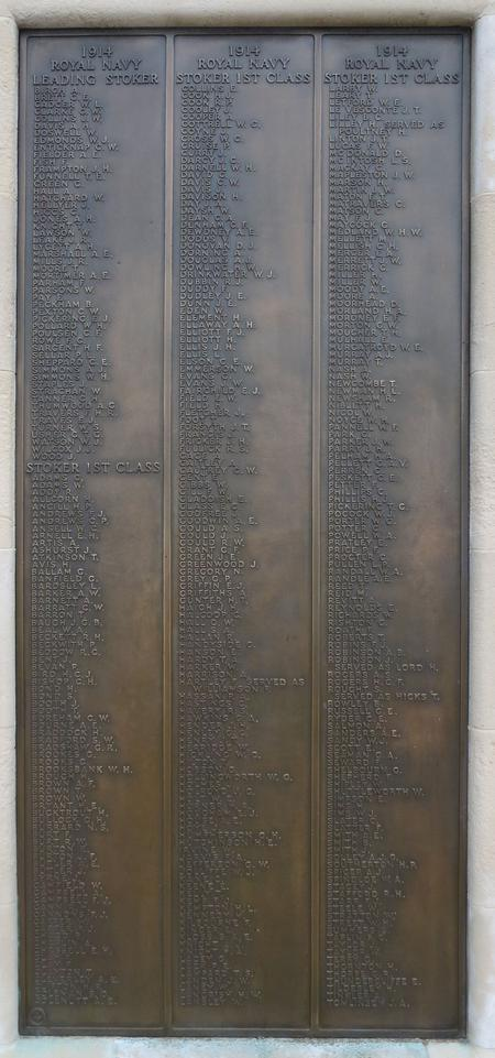 Portsmouth Naval Memorial Panel 4