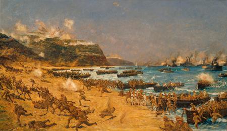 Amphibious invasion of Gallipoli peninsula 1915