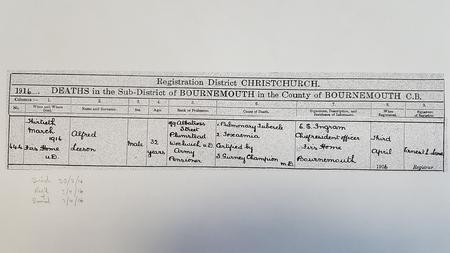His death certificat