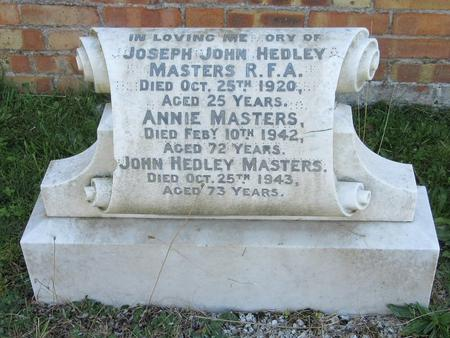Profile picture for Joseph John Hedley Masters