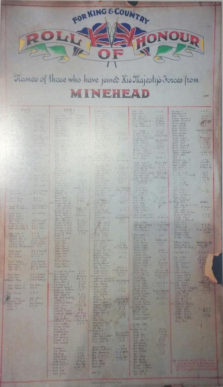Minehead Roll of Honour