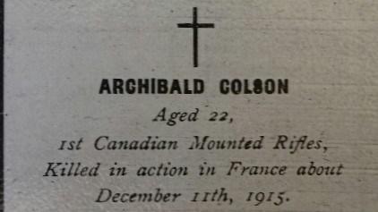 Profile picture for Archibald Colson
