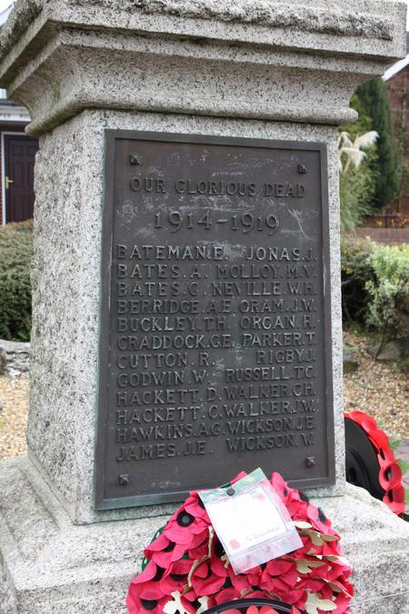Shenstone War Memorial, Staffordshire