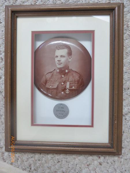 Private Hartley with Military Medal