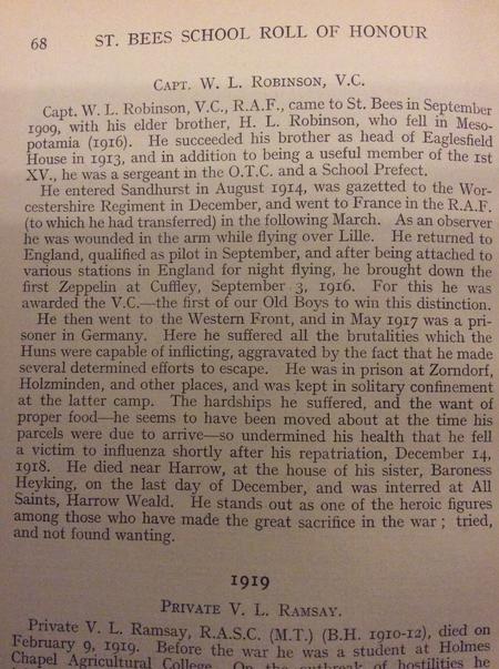 Capt. W L Robinson