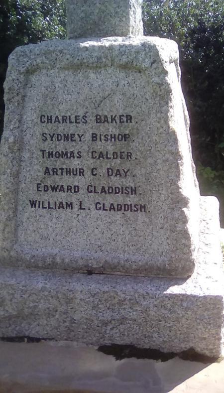Birling War Memorial inscription