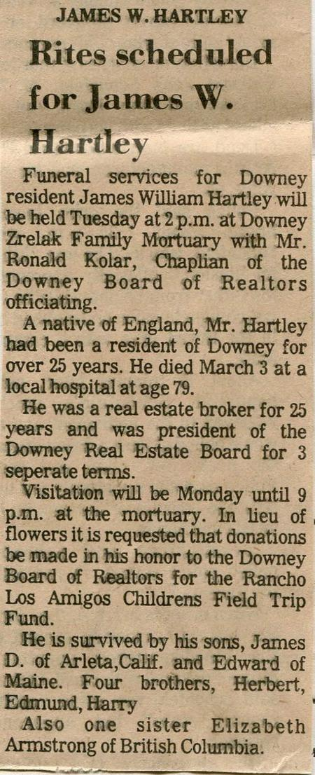 Death Notice - Downey, California Newspaper