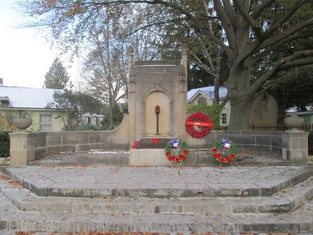 Cenotaph at McCrae House