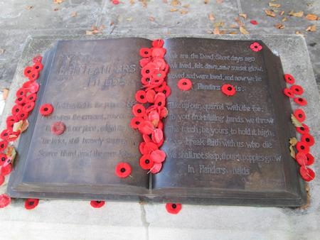 """""""In Flanders Fields,"""" McCrae House Cenotaph"""
