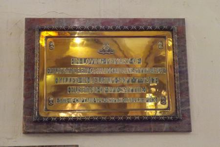 Memorial in Plympton St Mary Church